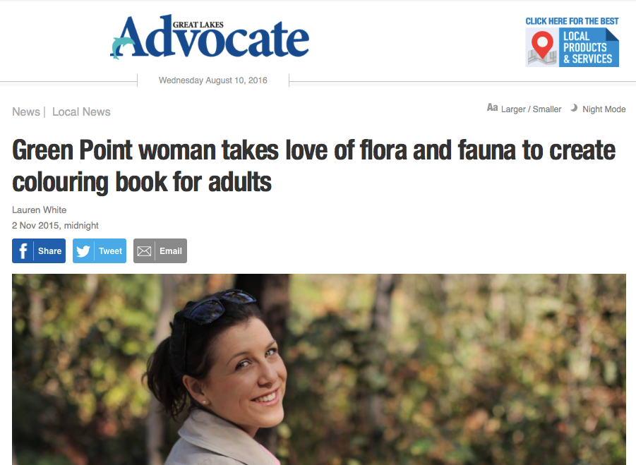 Author Stephanie Holm makes the front page of her hometown newspaper