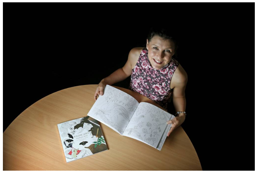 Publicity photo of Wildscapes author Stephanie Holm in the Newcastle Herald
