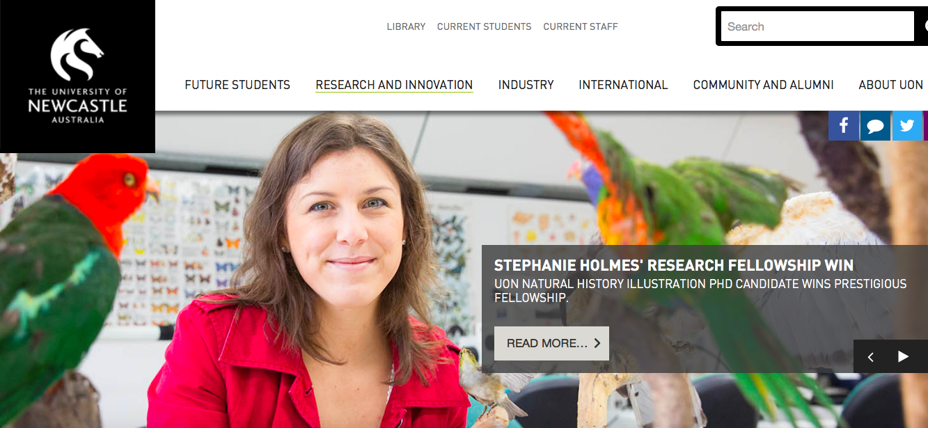 Press release by the University of Newcastle about Stephanie Holm's research