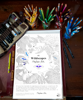 Wildscapes australian animal coloring printable cover