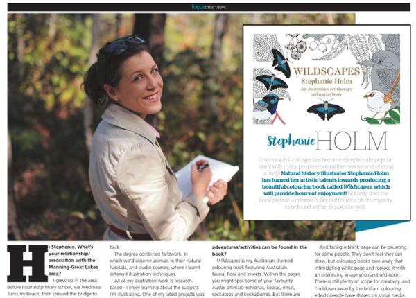 Interview with Natural History Artist and author of Wildscapes, Stephanie Holm